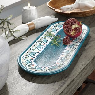Baeza Melamine Platter by Bungalow Rose