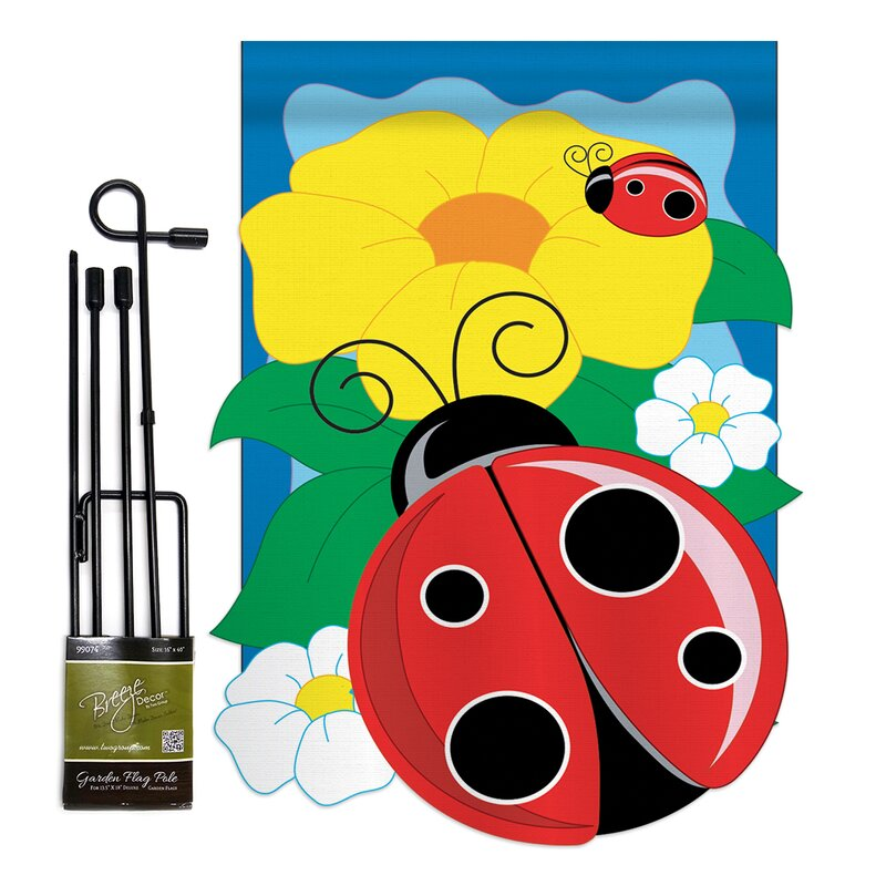 Breeze Decor Ladybug Friends Bugs And Frogs 2 Sided Polyester 19 X 13 In Garden Flag Wayfair