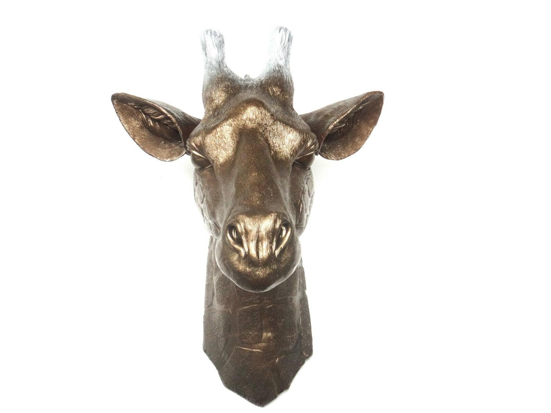 Faux Taxidermy Giraffe Head