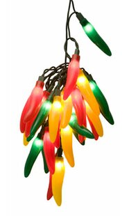 Comparison 35-Light Chili Pepper Cluster String Lights By Wintergreen Lighting
