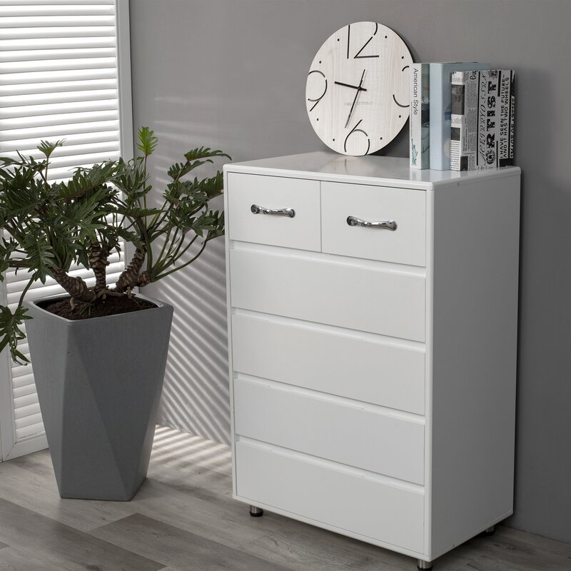 Latitude Run® Bambina 28'' Wide 6 Drawer Sideboard | Wayfair