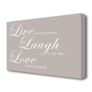 Live Laugh Love Wall Art Wayfair Co Uk