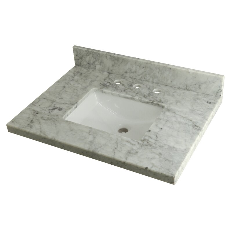 Kingston Brass Templeton Carrara Marble 30 Single Bathroom Vanity Top Wayfair