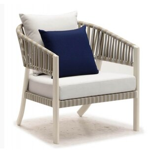 Cathey Patio Chair with Cushion by Rosecliff Heights