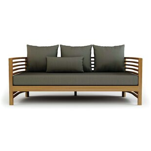 Seasonal Living Teak Patio Sofa with Cushions
