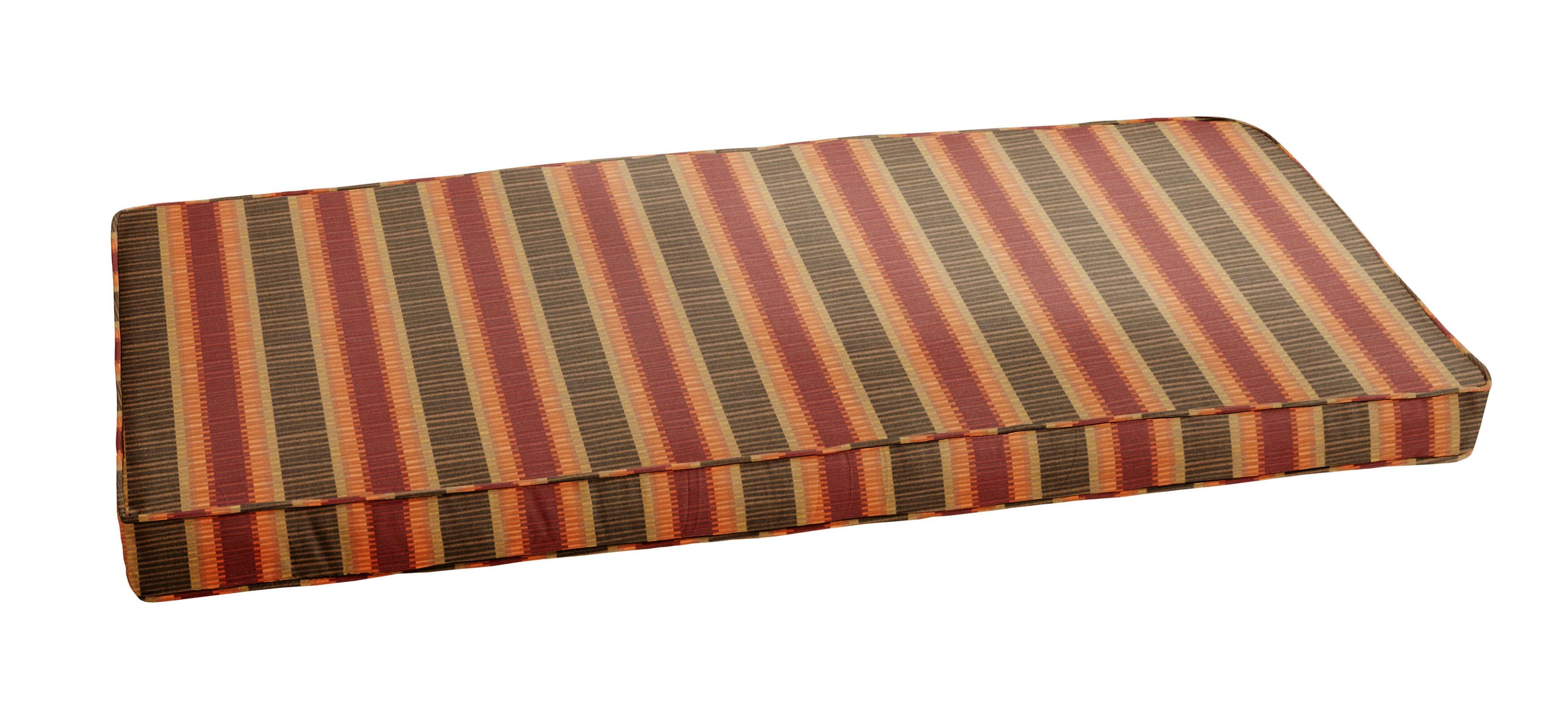 Picture of: Alcott Hill Stripe Indoor Outdoor Sunbrella Bench Cushion Wayfair