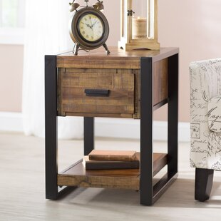 Greyleigh Telfair Wood End Table with Sto..