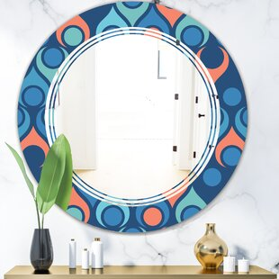 Triple C Abstract Drops X Modern Wall Mirror by East Urban Home