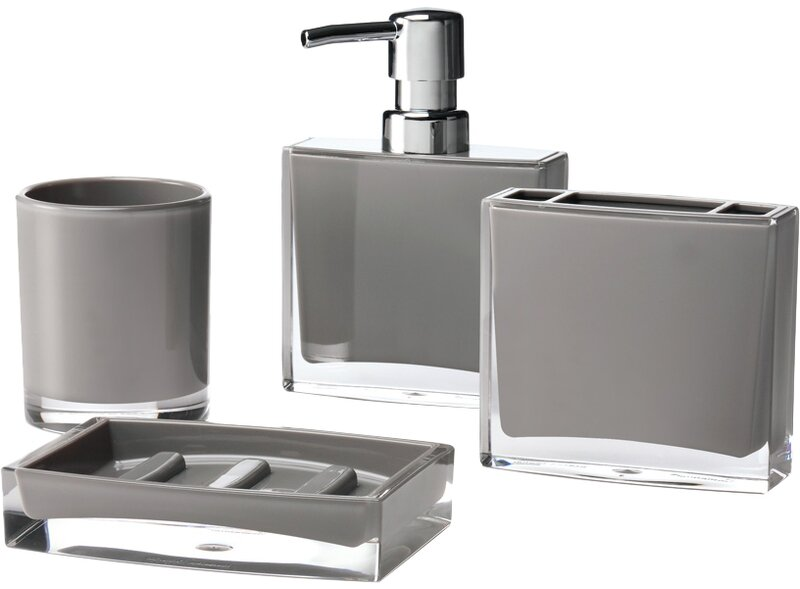 Immanuel Iced 4-Piece Bathroom Accessory Set & Reviews