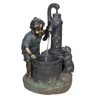 Resin Pewter Patio Fountain
