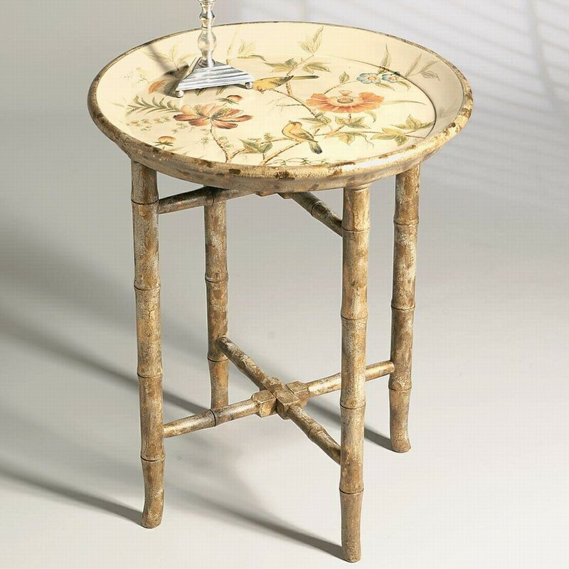 Beautiful Hand Painted Wooden Tray Table