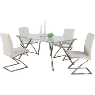 Decimus 5 Piece Metal Dining Set by Orren..