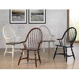 Gonzalez Solid Wood Windsor Back Arm Chair by Rosalind Wheeler