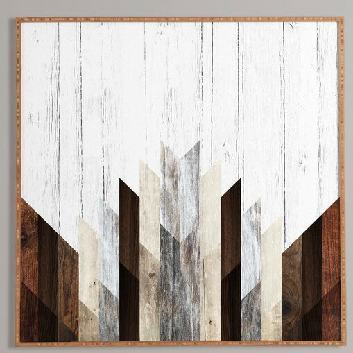 Allmodern Geo Wood 3 Framed Graphic Art Print By Iveta Abolina Picture Frame Graphic Art Print On Paper Reviews Wayfair