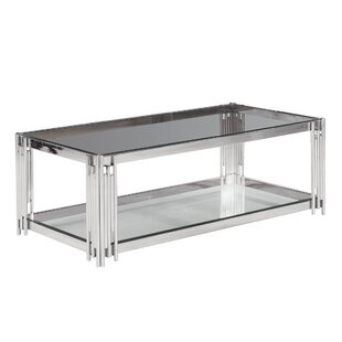 Clarkson 2-Tier Glass Top Coffee Table