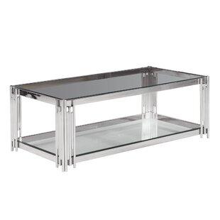 Clarkson 2-Tier Glass Top Coffee Table by Orren Ellis