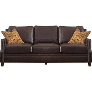 Gravely Leather Sofa by Darby Home Co