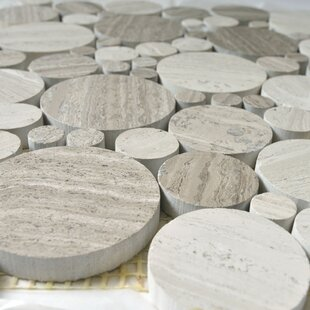 Bolle Random Sized Marble Mosaic Tile in White Oak by