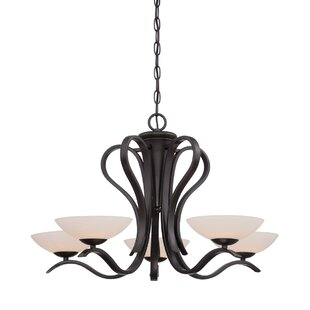 Murguia 5-Light Shaded Chandelier by Charlton Home
