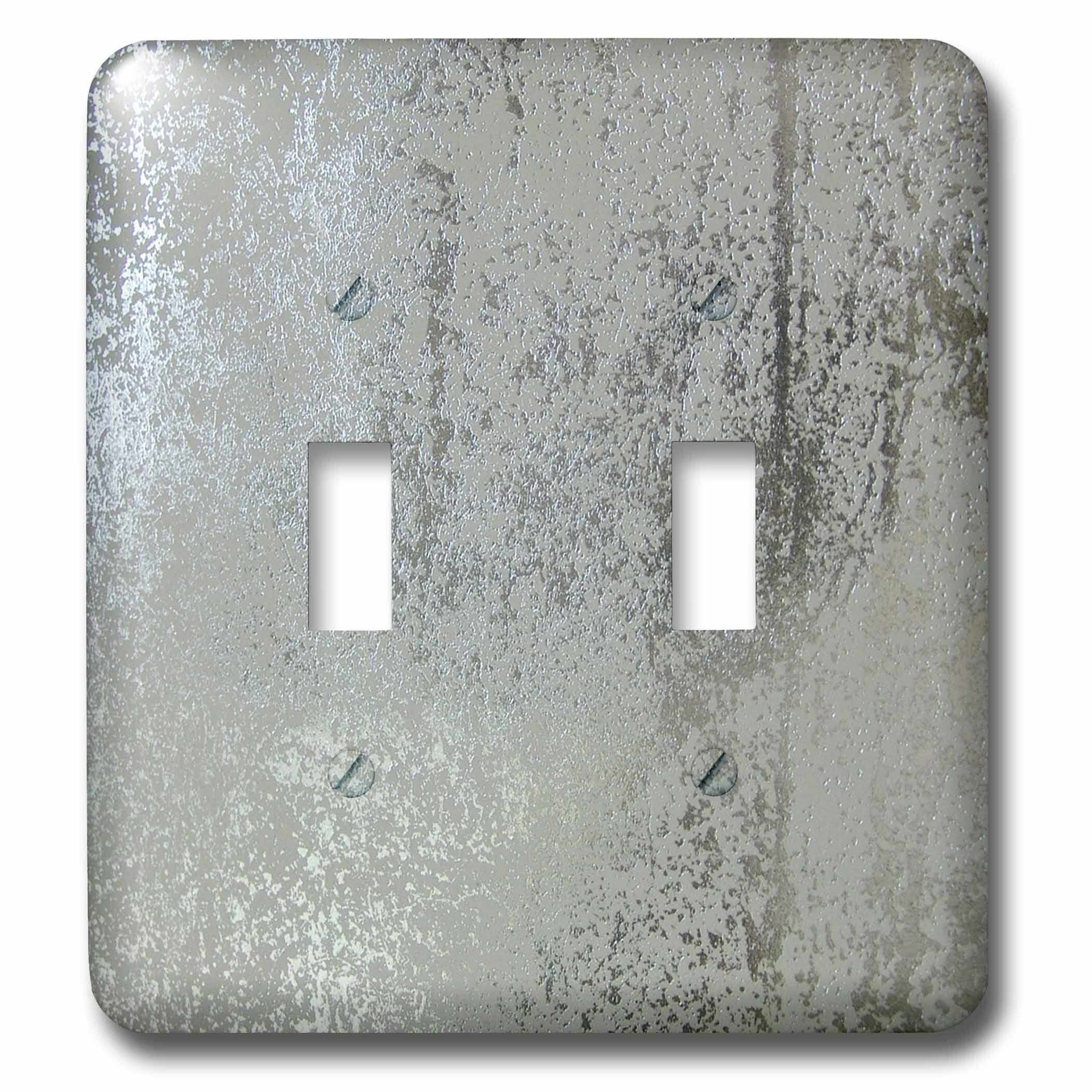 3drose Light And Darker Metallic Silver 2 Gang Toggle Light Switch Wall Plate Wayfair