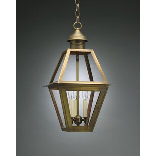 Check Prices Boston 3-Light Outdoor Hanging Lantern By Northeast Lantern