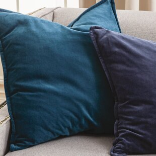 teal blue artic pillow linon