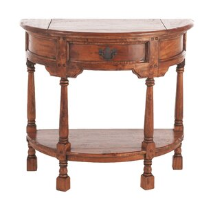 Sanabria Solid Wood Console Table By World Menagerie