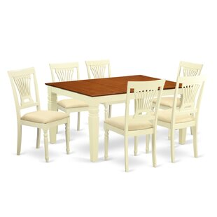 Royalston 7 Piece Dining Set Rosecliff Heights