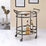 Malviya Oval Metal Serving Bar Cart by Brayden Studio®