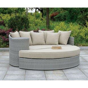 Brayden Studio CoreyPatio Sofa with Cushions