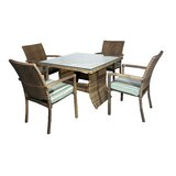 Hardage 5 Piece Dining Set with Cushions