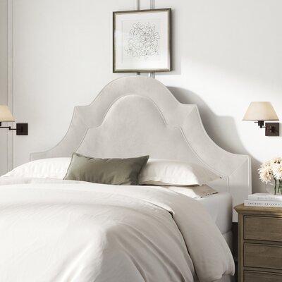 Kelly Clarkson Home McAfee Upholstered Panel Headboard  Size: Full, Upholstery: Light Gray