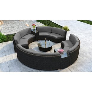 Everly Quinn Glen Ellyn 7 Piece Sectional Set with Sunbrella Cushion