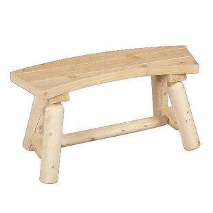 Rustic Natural Cedar Furniture Curved Wood Picnic Bench