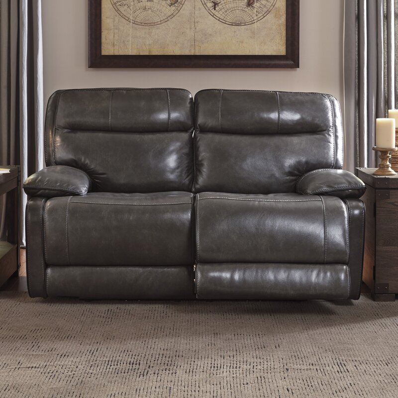 Gigi Leather Reclining Loveseat & Trent Austin Design Gigi Leather Reclining Loveseat u0026 Reviews ... islam-shia.org