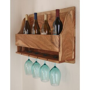 Bexton Live Edge Natural 4 Bottle Wall Mo..