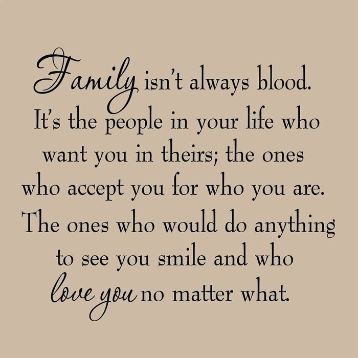 Griffing Family Isn\'t Always Blood Wall Decal