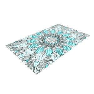 Monika Strigel Dots and Stripes Mint Area Rug
