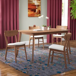 Ado 5 Piece Solid Wood Dining Set Brayden Studio