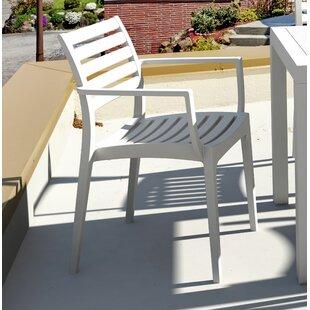 Nikoleta Stacking Patio Dining Chair (Set of 4) by Mercury Row