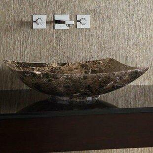 Y Decor Emporio Stone Square Vessel Bathroom Sink