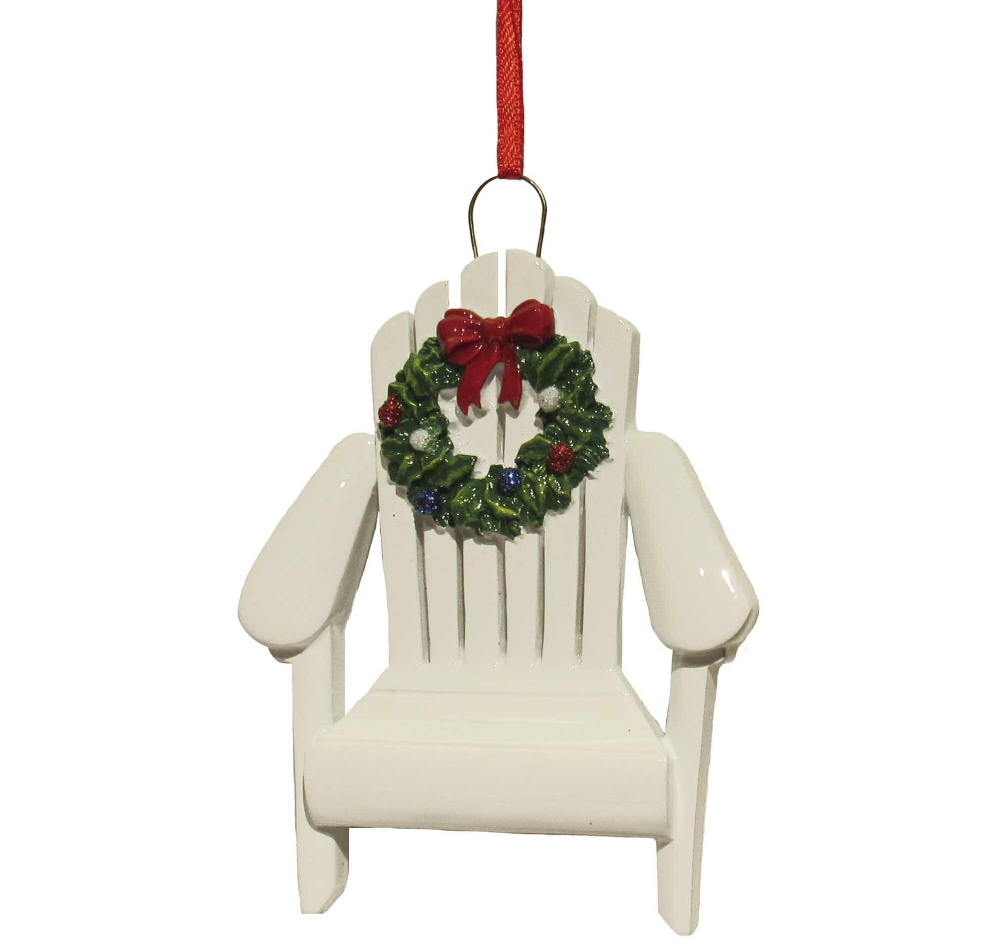 The Holiday Aisle Resin Adirondack Chair Hanging Figurine Ornament Reviews Wayfair