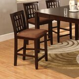 Vlachavas Solid Wood Microfiber 26 Counter Stool (Set of 2) by Winston Porter