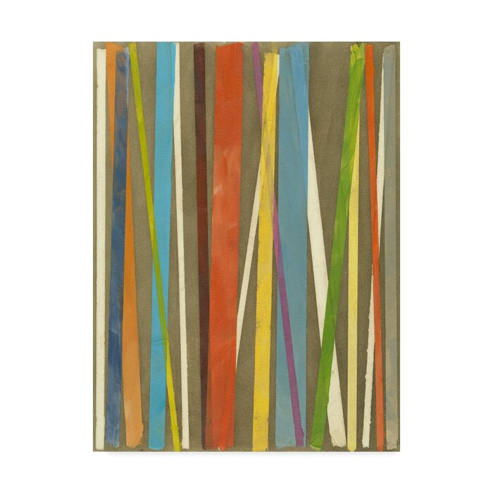 Vertical Verse I Acrylic Painting Print On Wred Canvas