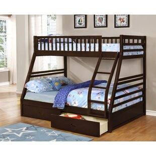 Buying Claret Twin Over Full Bunk Bed with Drawers ByHarriet Bee