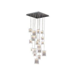 Orren Ellis Robinette 19-Light Cascade Pendant