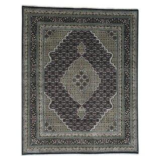 Compare & Buy One-of-a-Kind Samons 250 Kpsi Mahi Hand-Knotted Black Area Rug ByAstoria Grand