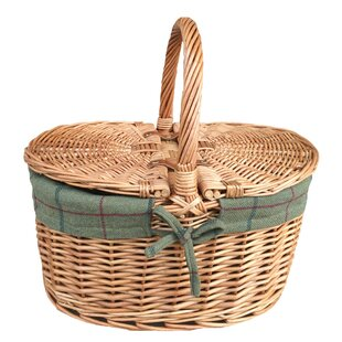 Tweed Lining Picnic Basket By August Grove