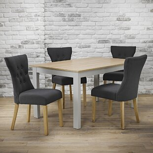 Zurich Cotswold Dining Set With 4 Chairs By August Grove