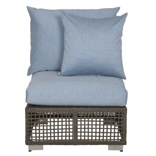Mcmanis Outdoor Open Weave Patio Chair with Cushion